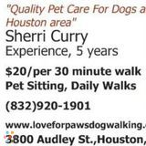 Dog Walker, Pet Sitter, Kennel in Houston