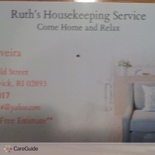 Housekeeper Provider Ruth O's Profile Picture