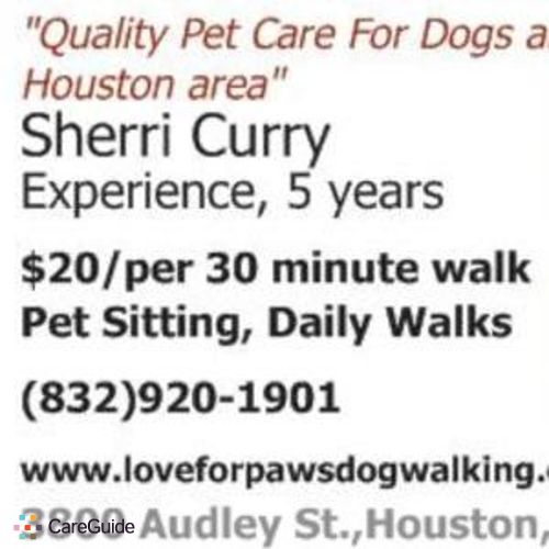 Pet Care Provider Sherri Curry's Profile Picture