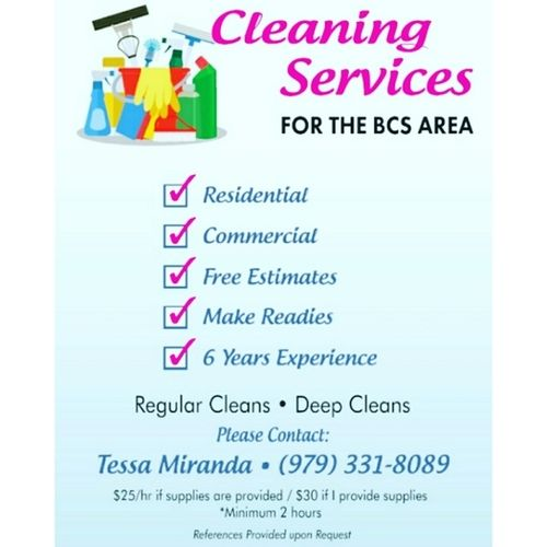 Cleaning Services for BCS area