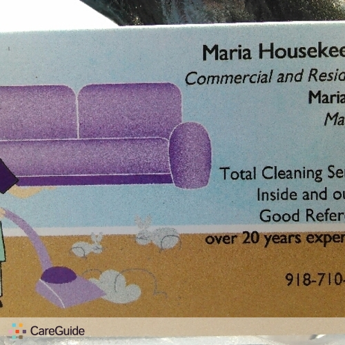 Housekeeper Provider Maria Vega's Profile Picture