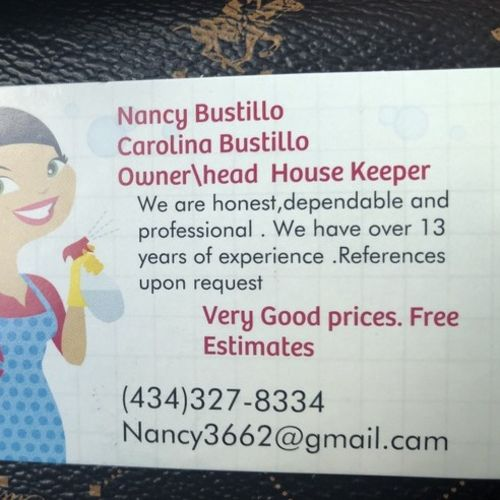 Housekeeper Provider Nancy B's Profile Picture