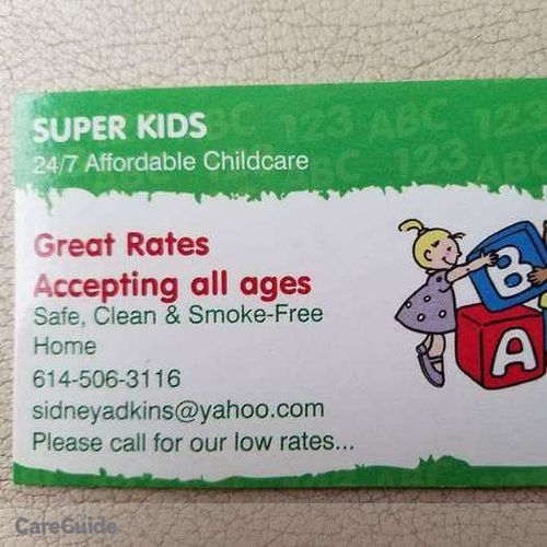 Child Care Provider Sidney A's Profile Picture