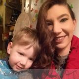 Caring sitter with 3 year old