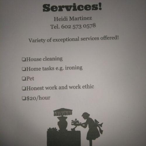 Housekeeper Provider Heidi Martinez's Profile Picture