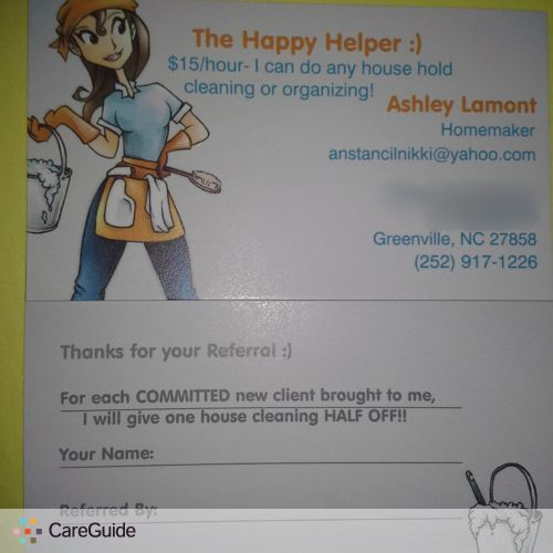 Housekeeper Provider Ashley Lamont's Profile Picture
