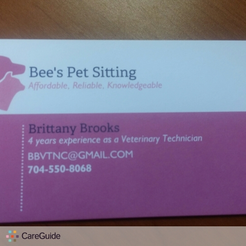 Pet Care Provider Brittany Brooks's Profile Picture
