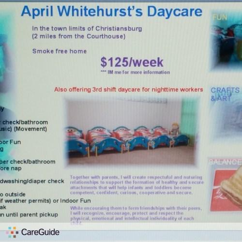 Child Care Provider April Whitehurst's Profile Picture