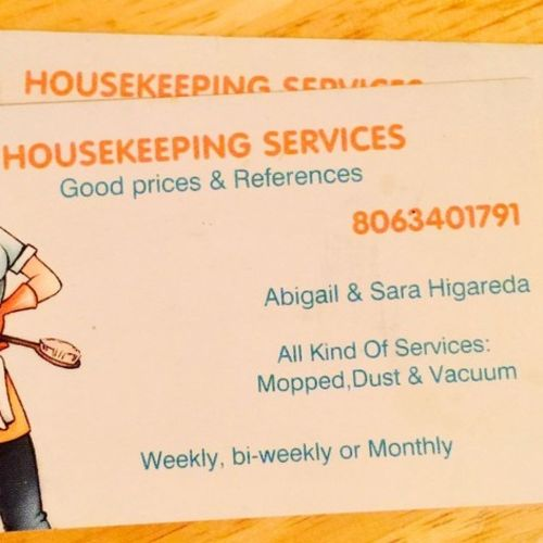 Housekeeper Provider Abigail Higareda's Profile Picture