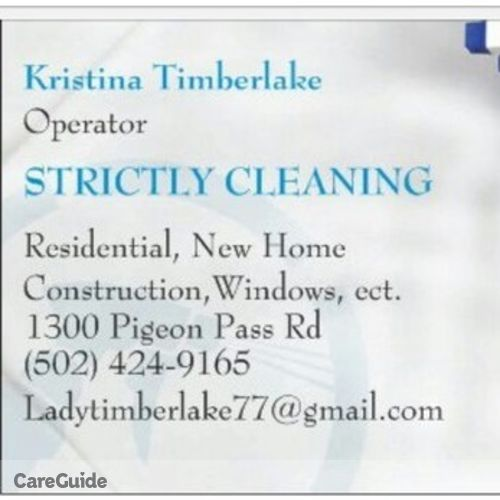 Housekeeper Provider Kristina Timberlake's Profile Picture