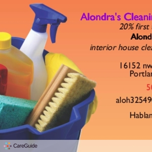 Housekeeper Provider Alondra H's Profile Picture