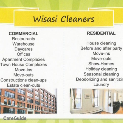 Housekeeper Provider Wisasi Cleaners's Profile Picture