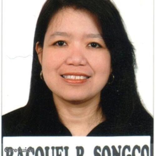 Canadian Nanny Provider Racquel Songco's Profile Picture