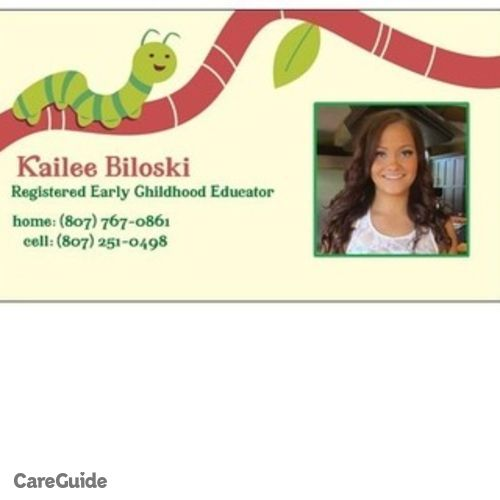Canadian Nanny Provider Kailee B's Profile Picture