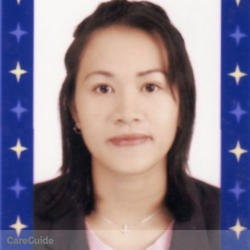 Canadian Nanny Provider Jenelyn A's Profile Picture