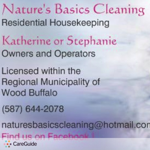 Housekeeper Provider Nature's Basics Cleaning Services's Profile Picture
