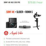 Sony A6400, 4K 120fps Ronin-S Slider