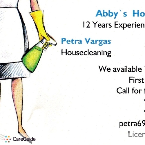 Housekeeper Provider Petra Vargas's Profile Picture