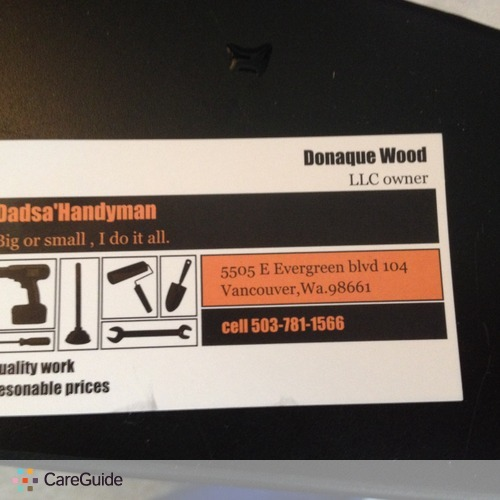 Handyman Provider Don Wood's Profile Picture