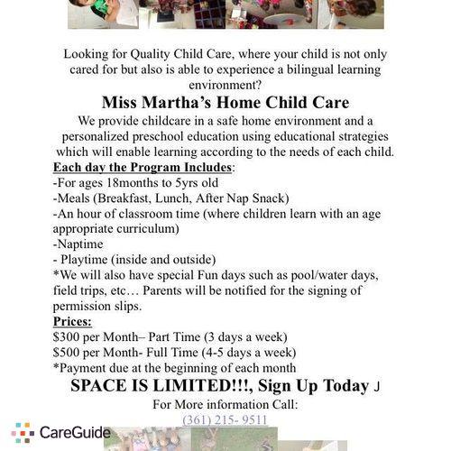 Child Care Provider Martha Fader's Profile Picture