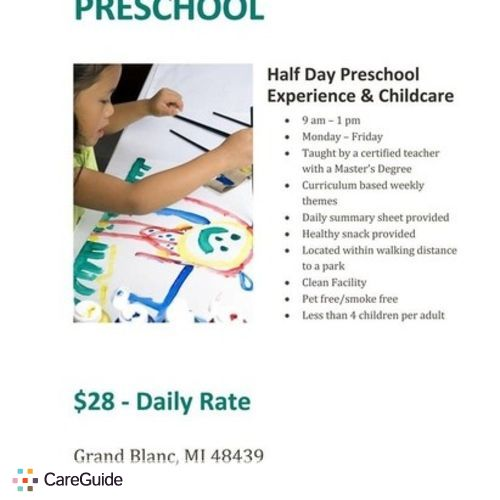 Child Care Provider Elizabeth Wallberg Up & Away Preschool's Profile Picture