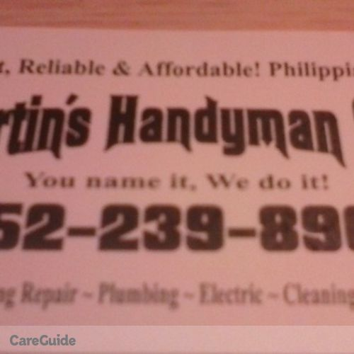 Handyman Provider Chris Martin's Profile Picture