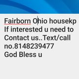 Housekeeper needed trustworthy/reliable
