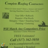 Have a hole in your roof? Need a whole new roof? Call CRC roofing for a free estimate today!