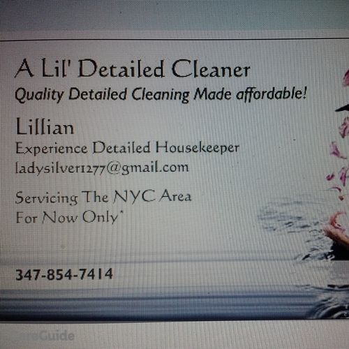Housekeeper Provider Lillian Gaston's Profile Picture