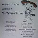 Mums Do It Better Cleaning & De-Cluttering services is here to help YOU