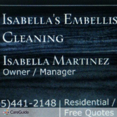 Housekeeper Provider Isabella Martinez's Profile Picture