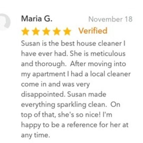 Housekeeper Provider Susan J's Profile Picture