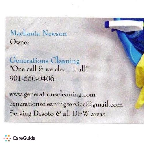 Housekeeper Provider Machanta Newson's Profile Picture