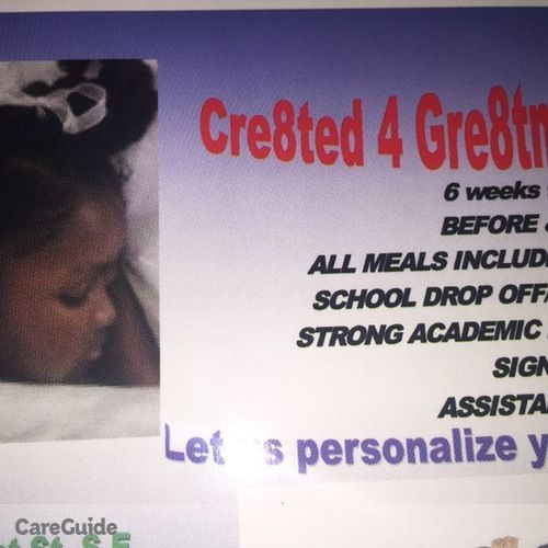 Child Care Provider Cr8ted 4 Gr8tness's Profile Picture