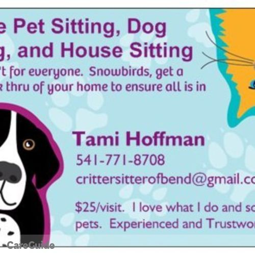 Pet Care Provider Tami Hoffman's Profile Picture