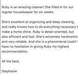 Housekeeper in Port Moody .. Belcarra.. coquitlam.. Vancouver