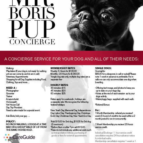 Pet Care Provider Boris Slattery's Profile Picture