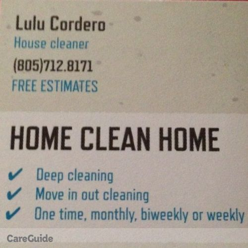 Housekeeper Provider Lulu Cordero's Profile Picture