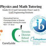Physics, Maths Tutor (Grade 10-12 & Undergraduate)