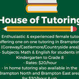 Affordable and Quality Tutoring Grades K-10 Brampton