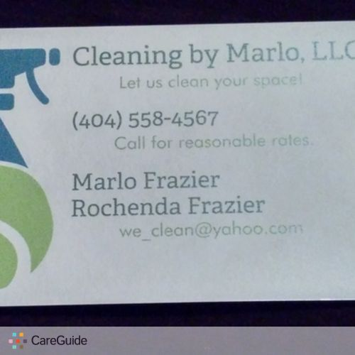 Housekeeper Provider Cleaning by Marlo's Profile Picture