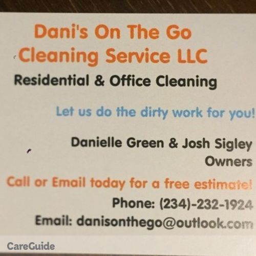 Housekeeper Provider Dani's On The Go Cleaning Service LLC's Profile Picture