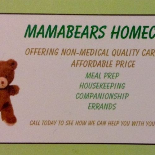 Elder Care Provider Mamabears Homecare's Profile Picture