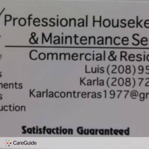 Housekeeper Provider Luis L's Profile Picture
