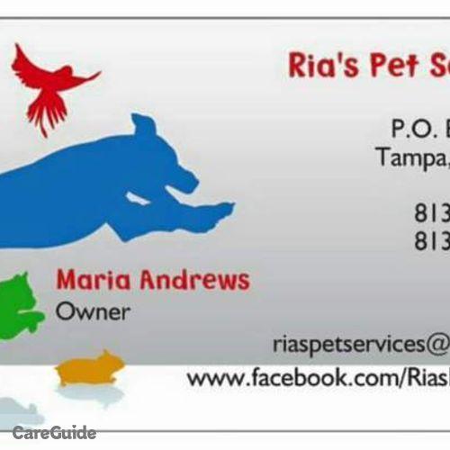 Pet Care Provider Maria A's Profile Picture