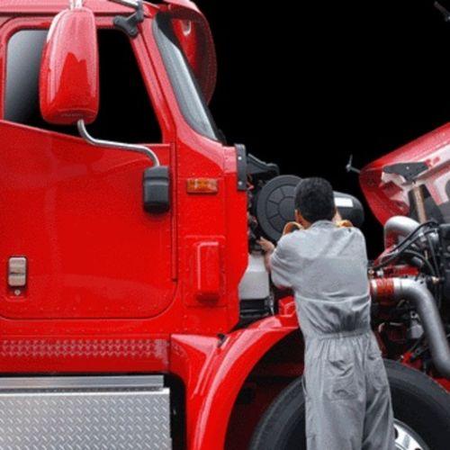 Heavy duty diesel truck repair mechanic