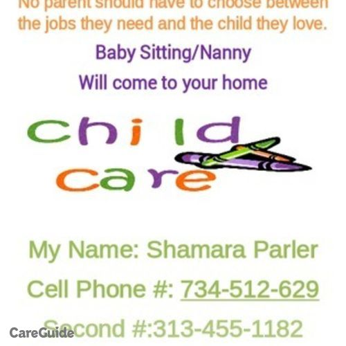 Child Care Provider Shamara Parler's Profile Picture
