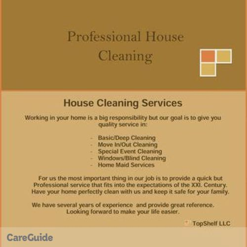 Housekeeper Provider Top Shelf LLC's Profile Picture