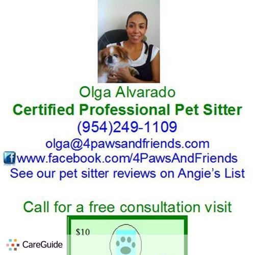 Pet Care Provider Olga Alvarado's Profile Picture