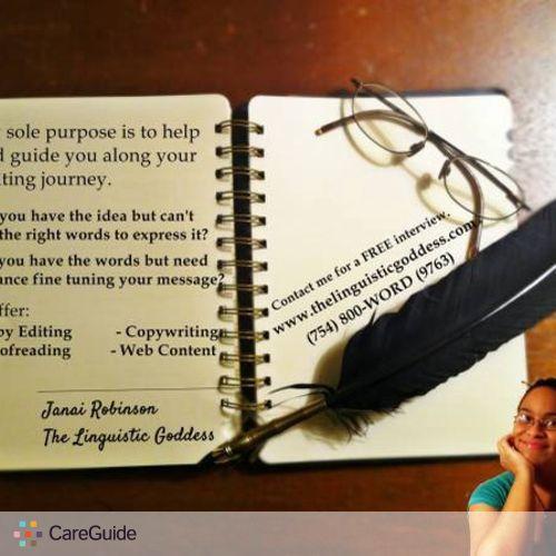 Writer Provider Janai Robinson's Profile Picture